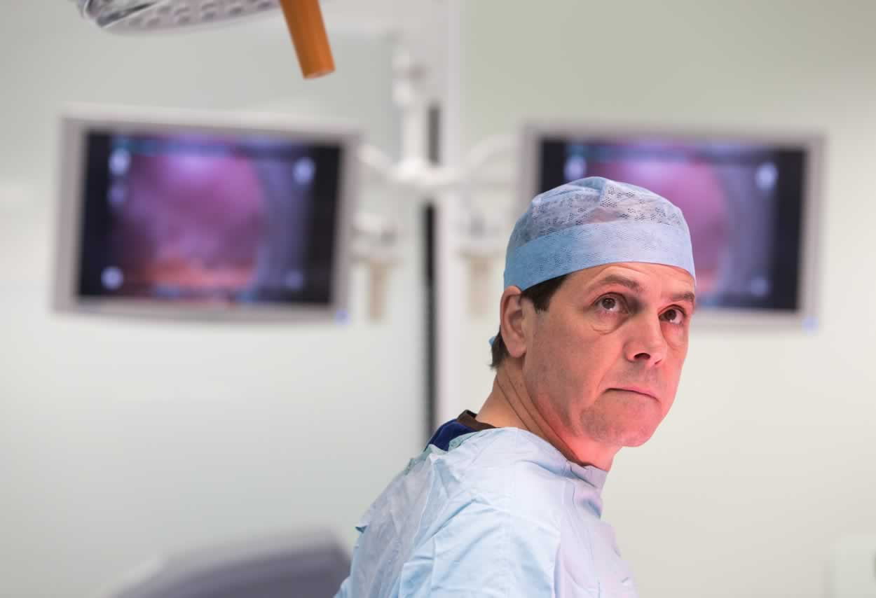A surgeon at Southmead Hospital, Bristol